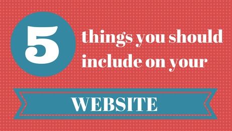 5 things to include on website